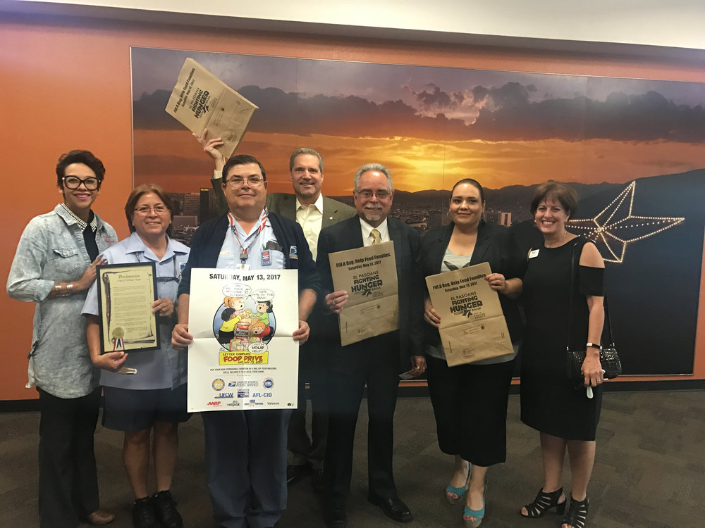 25th Annual Letter Carriers' Stamp Out Hunger Collects Over 150,000 Pounds of Food