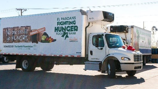 Companies and The Burkitt Foundation Come Together to Donate Trucks to El Pasoans Fighting Hunger