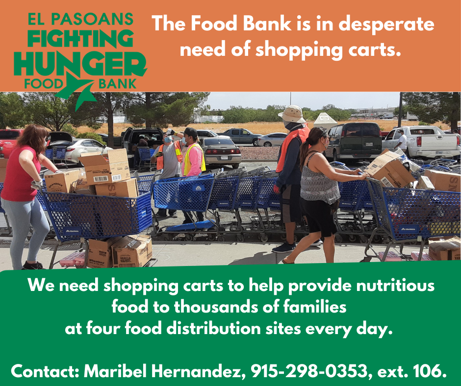 Food Bank in desperate need of shopping carts