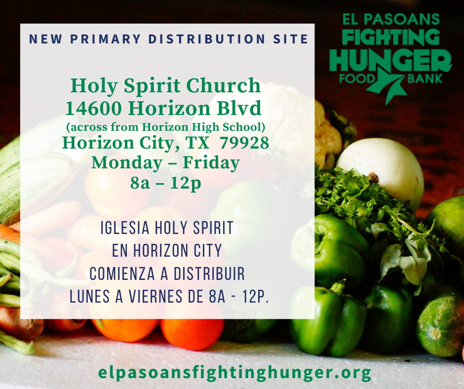 Holy Spirit Church now a primary distribution site