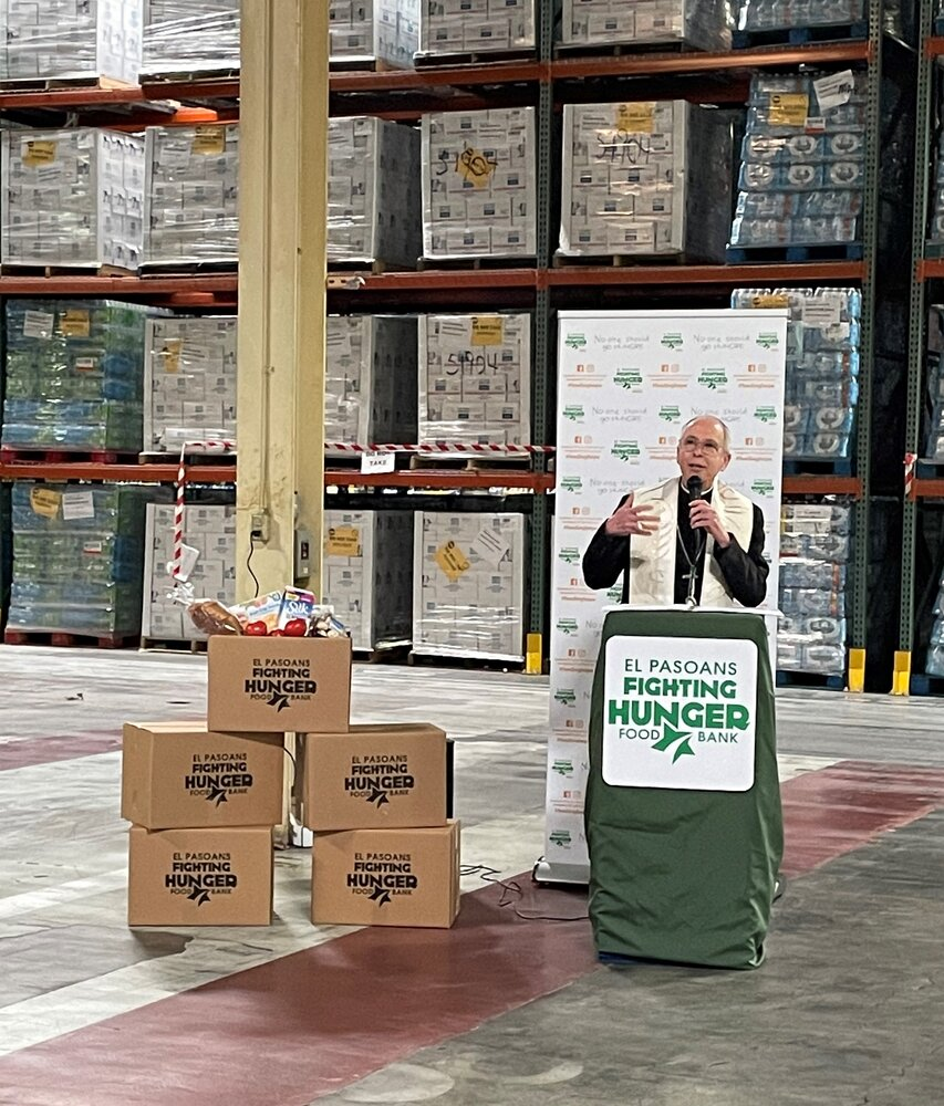 Interfaith religious leaders offer blessing to food bank