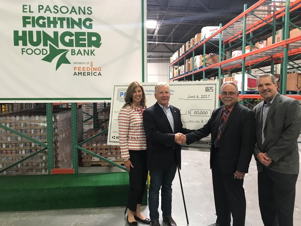 Plastic Molding Technology Contributes $50,000 to Food Bank