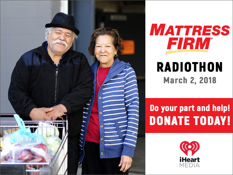 Tune into El Pasoans Fighting Hunger's First Ever Radiothon with Mattress FIrm &  iHeart Media
