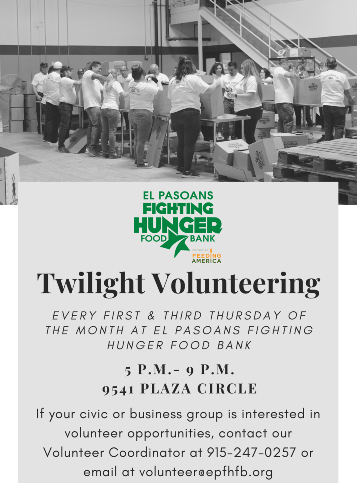 Twilight Hour Volunteer Opportunities